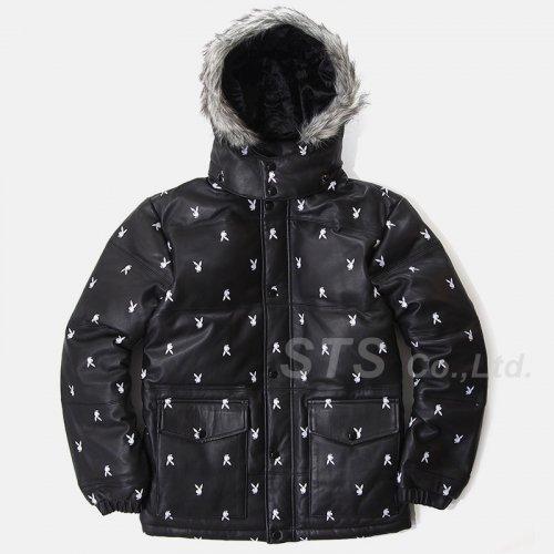 Supreme/Playboy Leather Puffy Jacket