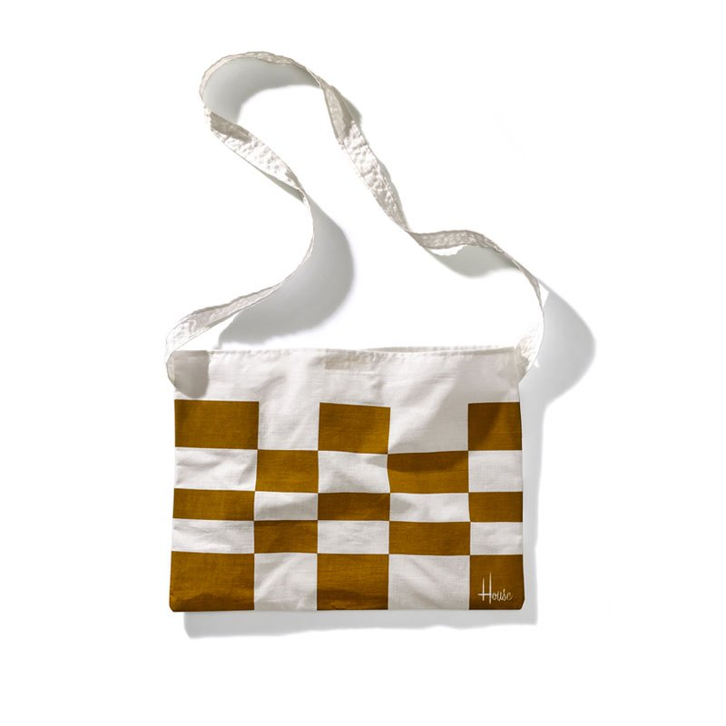 House Industries - House Velo Brown Check Musette