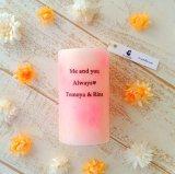 メッセージが入れられるアロマキャンドル【バニラの香り】【プレゼント・ギフトにおすすめ】(10045)