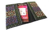 モン刺繍の両面ポケットのカードケース(PrCr)