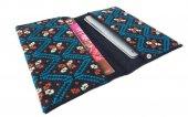モン刺繍の両面ポケットのカードケース(AqO)