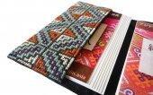 モン刺繍の両面ポケットのカードケース(OEgW)