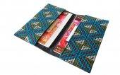 モン刺繍の両面ポケットのカードケース(BlO)