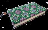 モン刺繍の新書版用ブックカバー(GrP)