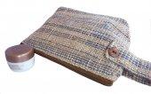 カレン手織り布の木製ボタン付きポーチ(BjIn)