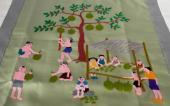 モン族のライフシーン刺繍のタペストリー_ドリアン(GGr)