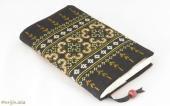 モン刺繍の新書版用ブックカバー(YYg)