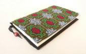 モン刺繍の新書版用ブックカバー(GrR)