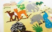 モン族のどうぶつライフシーン刺繍のミニポーチ(YT)
