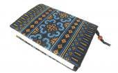 モン刺繍の文庫本用ブックカバー(OAq)
