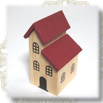 ミニチュアハウス(赤屋根)