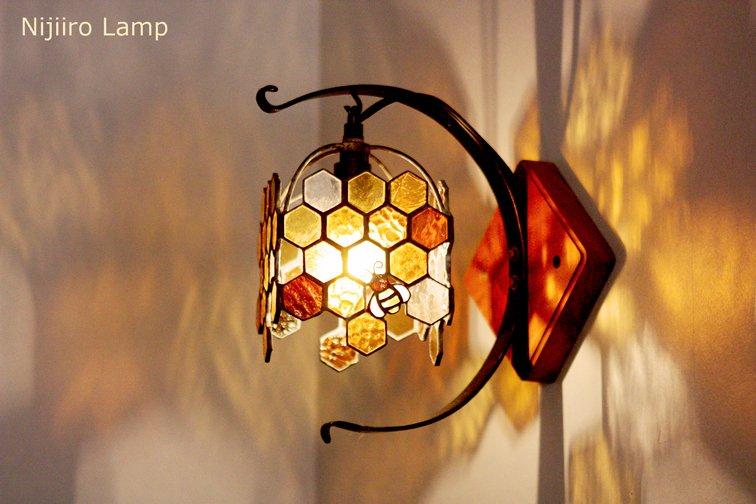 ブラケットランプ Honeybee umber ミツバチ アンバー【画像5】