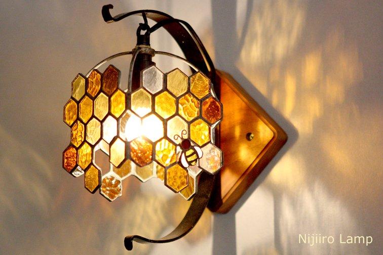 ブラケットランプ Honeybee umber ミツバチ アンバー【画像6】