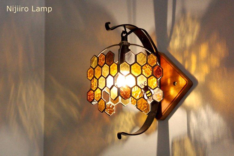 ブラケットランプ Honeybee umber ミツバチ アンバー【画像9】