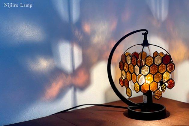 テーブルランプ Honeybee umber ミツバチ アンバー【画像4】