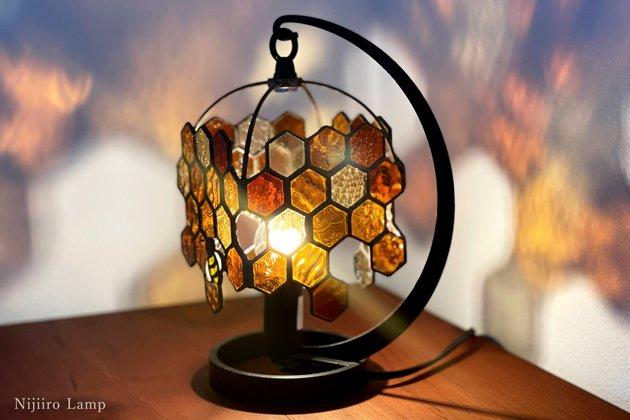 テーブルランプ Honeybee umber ミツバチ アンバー【画像6】