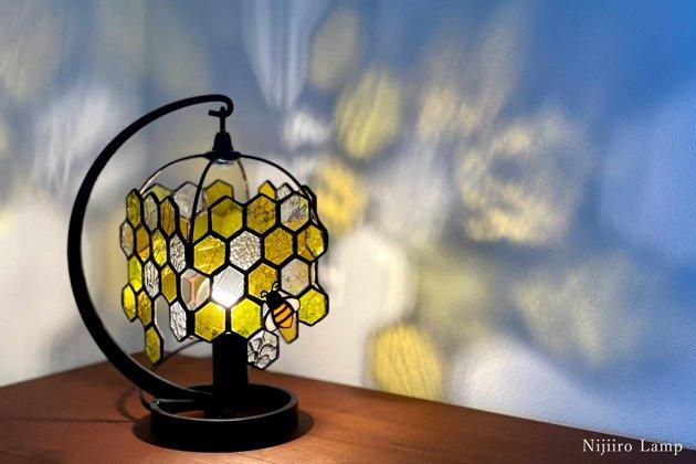 テーブルランプ Honeybee yellow ミツバチ イエロー【画像2】