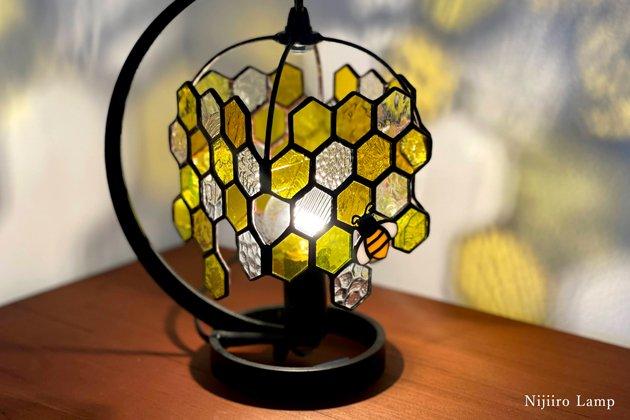 テーブルランプ Honeybee yellow ミツバチ イエロー【画像5】