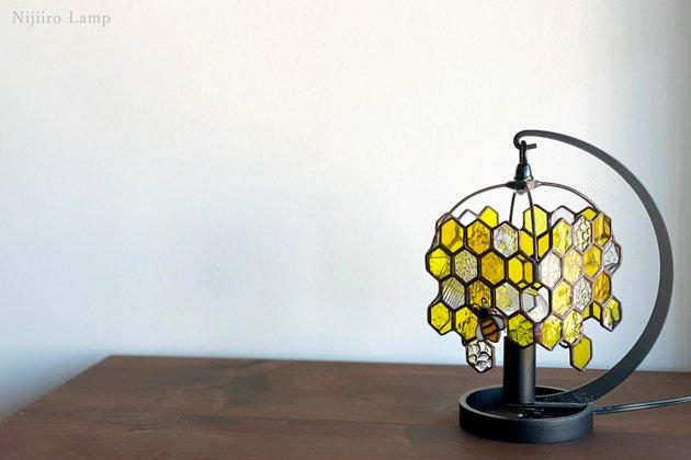 テーブルランプ Honeybee yellow ミツバチ イエロー【画像7】
