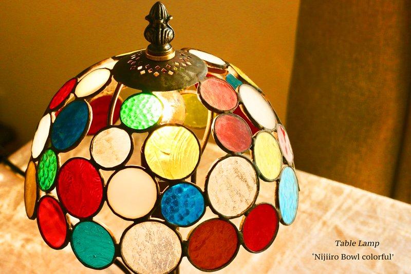 テーブルランプ Nijiiro Bowl colorful ニジイロボウル カラフル【画像4】