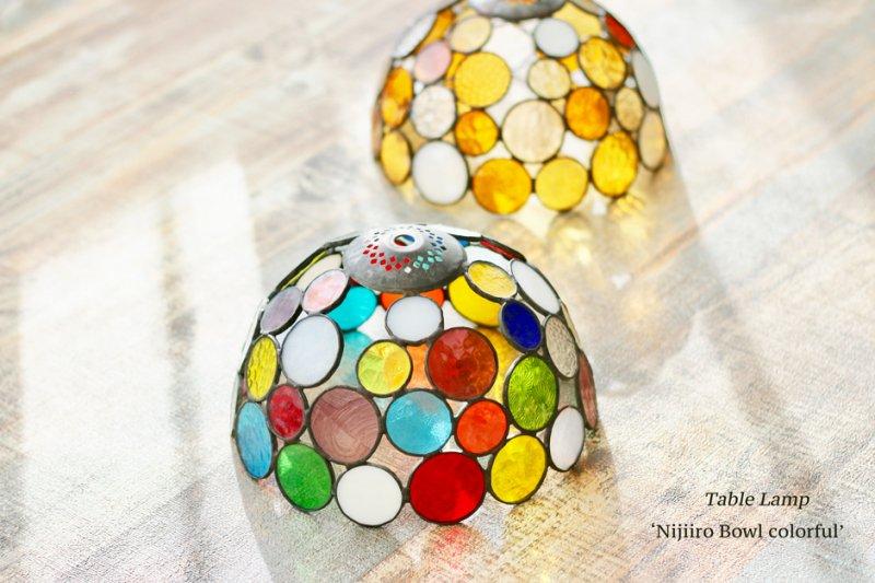 テーブルランプ Nijiiro Bowl colorful ニジイロボウル カラフル【画像7】