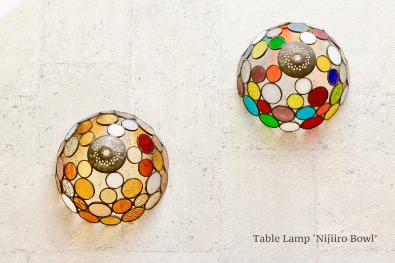 テーブルランプ Nijiiro Bowl colorful ニジイロボウル カラフル【画像9】