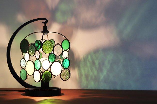 テーブルランプ Nijiiro drops green ニジイロドロップスグリーン【画像3】
