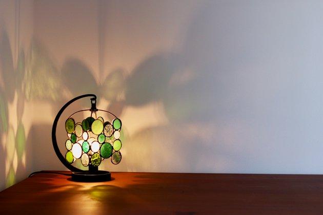 テーブルランプ Nijiiro drops green ニジイロドロップスグリーン【画像4】