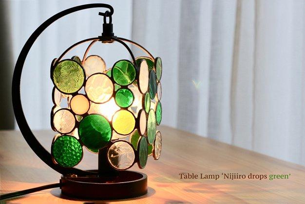 テーブルランプ Nijiiro drops green ニジイロドロップスグリーン【画像7】