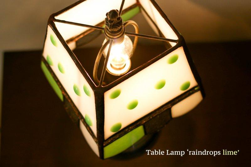 テーブルランプ raindrop lime  レインドロップ ライム【画像4】