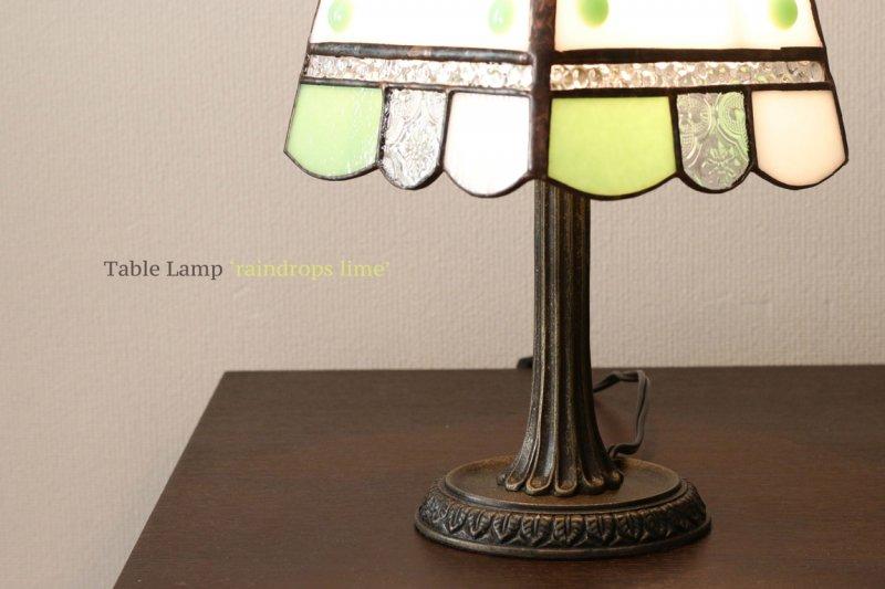 テーブルランプ raindrop lime  レインドロップ ライム【画像5】