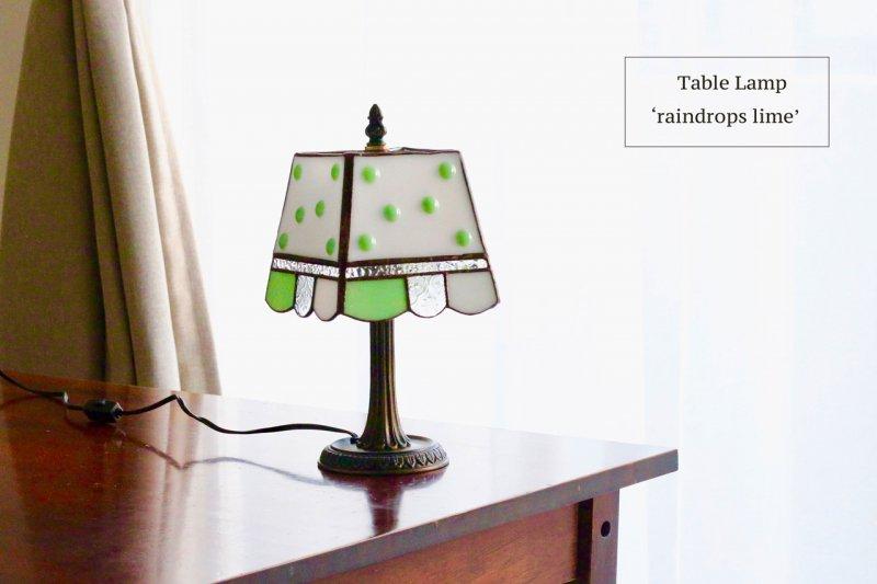 テーブルランプ raindrop lime  レインドロップ ライム【画像7】