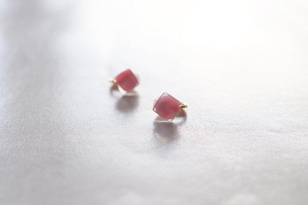 イヤリング  Gelee coral pink S 〔ジュレ コーラルピンク S〕 【画像3】