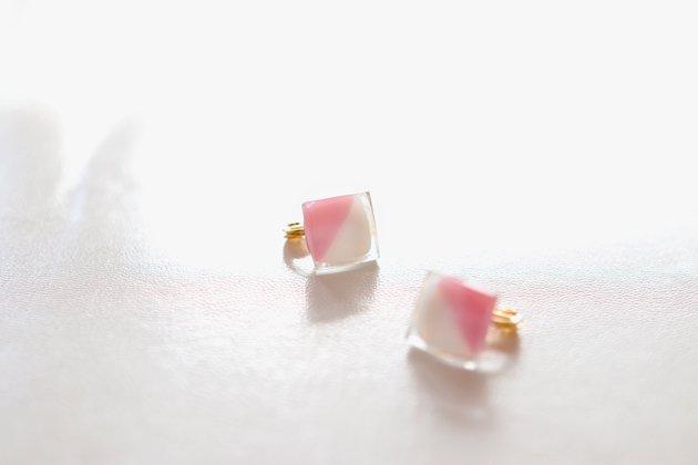 イヤリング Gelee deux coral pink〔ジュレ ドゥ コーラルピンク〕【画像2】