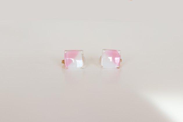 イヤリング Gelee deux coral pink〔ジュレ ドゥ コーラルピンク〕【画像5】