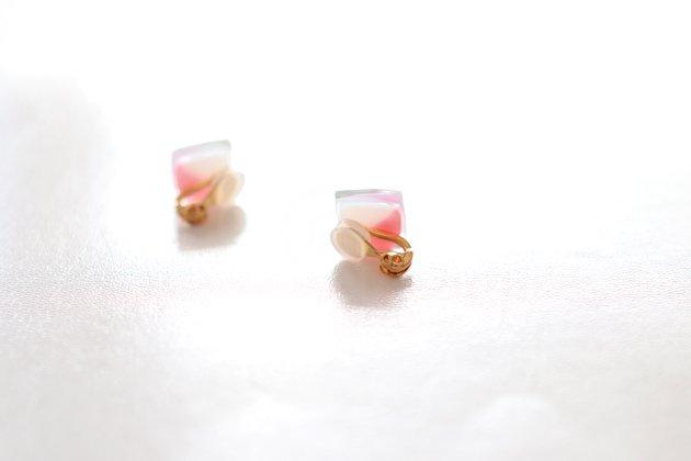 イヤリング Gelee deux coral pink〔ジュレ ドゥ コーラルピンク〕【画像6】