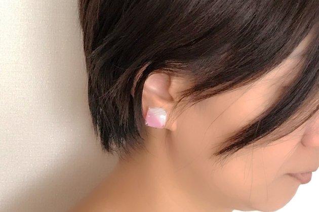 イヤリング Gelee deux coral pink〔ジュレ ドゥ コーラルピンク〕【画像10】