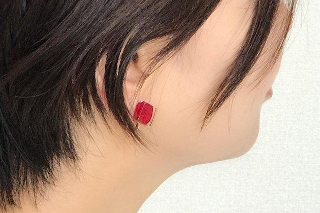 イヤリング Gelee red S 〔ジュレ レッド S〕【画像2】