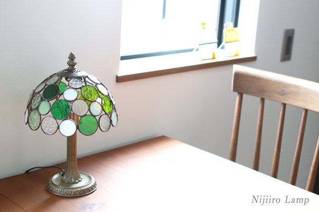 テーブルランプ Nijiiro bowl green ニジイロボウル グリーン【画像11】