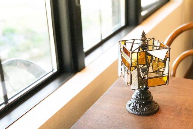 【限定1】 テーブルランプ ガラスのかけらランプ amber� アンバー 【画像4】