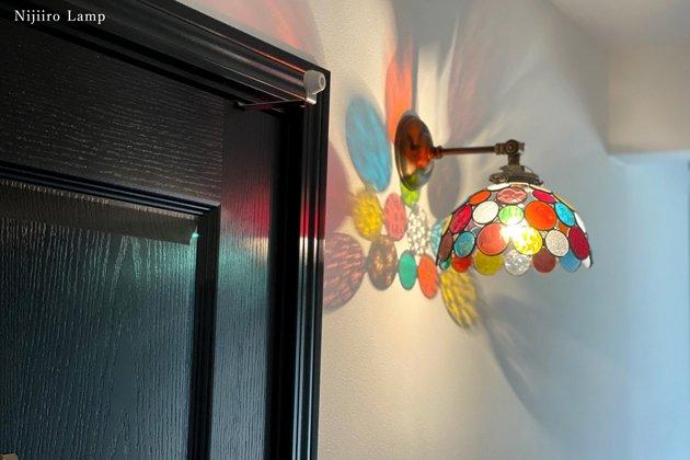 ブラケットランプ Nijiiro bowl colorful ニジイロボール カラフル 屋内用【画像2】