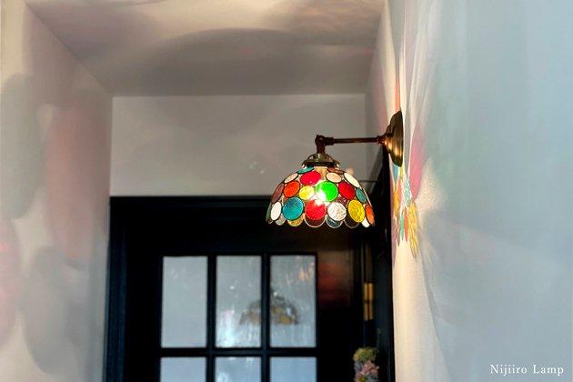ブラケットランプ Nijiiro bowl colorful ニジイロボール カラフル 屋内用【画像5】