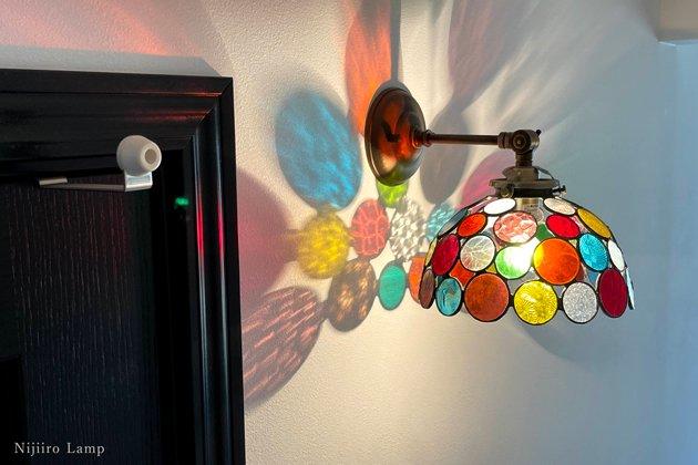 ブラケットランプ Nijiiro bowl colorful ニジイロボール カラフル 屋内用【画像7】