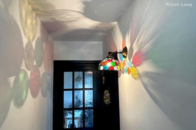 ブラケットランプ Nijiiro bowl colorful ニジイロボール カラフル 屋内用【画像8】