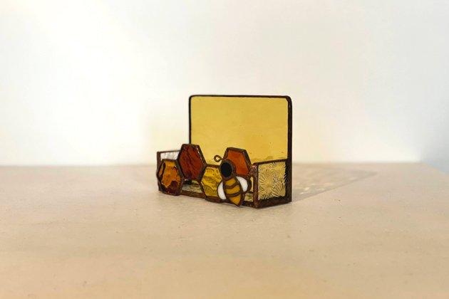 Card holder Honeybee amber カードホルダー ミツバチ アンバー【画像2】