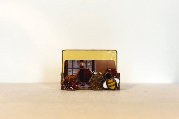 Card holder Honeybee amber カードホルダー ミツバチ アンバー【画像6】