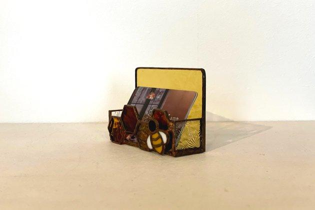 Card holder Honeybee amber カードホルダー ミツバチ アンバー【画像7】