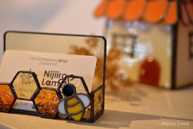 Card holder Honeybee amber カードホルダー ミツバチ アンバー【画像10】