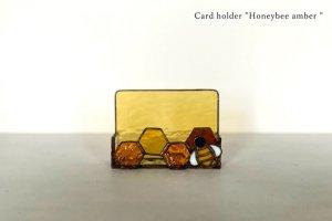Card holder Honeybee amber カードホルダー ミツバチ アンバー