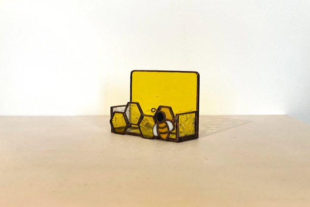 Card holder Honeybee yellow カードホルダー ミツバチ イエロー【画像2】